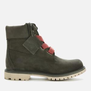 Timberland Women's 6 Inch Premium Convenience Boots - Dark Green Nubuck