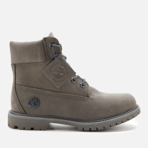 Timberland Women's London Square Biker Boots - Medium Brown Full Grain