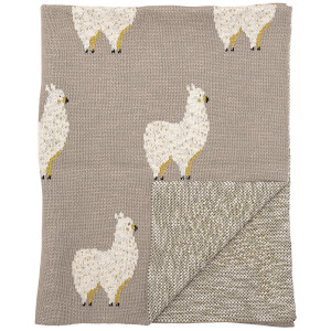 Bloomingville Llama Cotton Throw