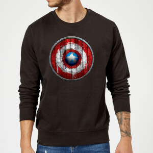 Felpa Marvel Captain America Wooden Shield - Nero