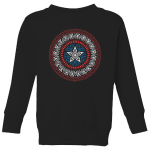 Marvel Captain America Oriental Shield Kids' Sweatshirt - Black