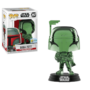 SDCC 2019 Star Wars - Boba Fett Grün Chrom EXC Pop! Vinyl Figur