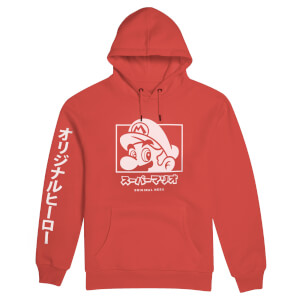 Nintendo Original Hero Super Mario Hoodie - Red
