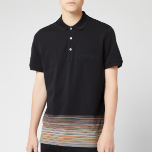 Missoni Men's Short Sleeve Bottom Stripe Polo Shirt - Multi