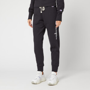 Champion Women's Big Script Rib Cuff Pants - Black