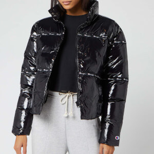 Champion Women's Puff Jacket - Shiny Black