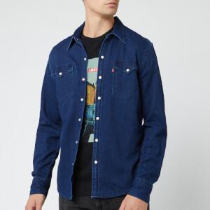 Levi's Men's Barstow Western Shirt - Indigo Flannel