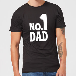 No. 1 Dad Men's T-Shirt - Black