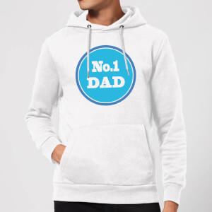 No. 1 Dad Hoodie - White