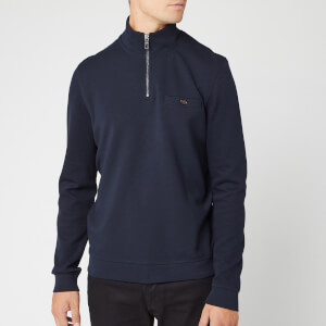 Ted Baker Men's Muggie Half Zip Funnel Neck Sweatshirt - Navy