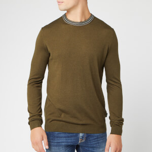 Ted Baker Men's Mailais Crew Neck Knitted Jumper - Khaki