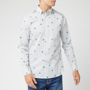 Ted Baker Men's Richrd Floral Geo Print Shirt - White