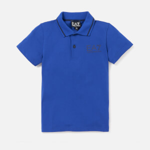 Emporio Armani EA7 Boys' Train Core ID Short Sleeve Polo Shirt - Mazarine Blue