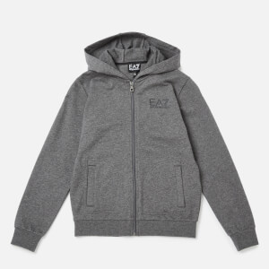 Emporio Armarni EA7 Boys' Train Core ID Full Zip Hoodie - Dark Grey Melange