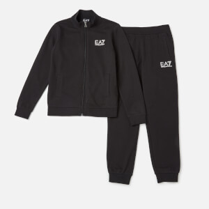 Emporio Armarni EA7 Boys' Train Core ID Full Zip Tracksuit - Black