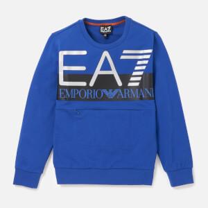 Emporio Armani EA7 Boys' Train Visibility Sweatshirt - Mazarine Blue