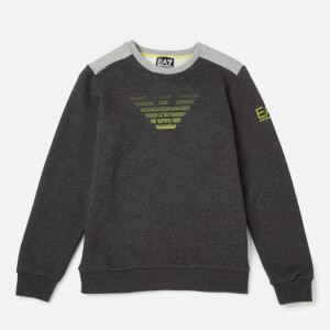 Emporio Armarni EA7 Boys' Train 7 Colours Sweatshirt - Medium Grey Heather