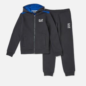 Emporio Armarni EA7 Boys' Train 7 Colours Tracksuit Hoodie Top - Night Blue
