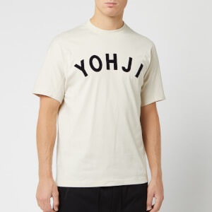Y-3 Men's Yohji Letters Short Sleeve T-Shirt - Ecru/Legend Ink