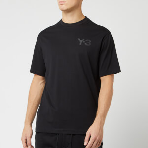 Y-3 Men's Logo Short Sleeve T-Shirt - Black