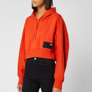 Y-3 Women's Stacked Badge Hoody - Icon Orange