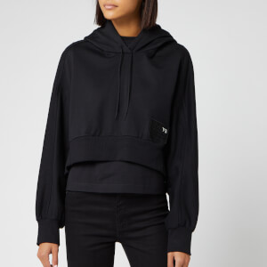 Y-3 Women's Stacked Badge Hoody - Black