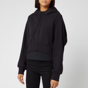 Y-3 Women's Toketa Print Cropped Hoody - Black