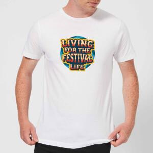 Living For The Festival Life Men's T-Shirt - White
