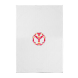 Floral Pattern Peace Symbol Cotton Tea Towel