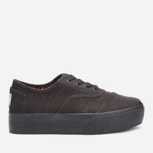 TOMS Women's Cordones Boardwalk Flatform Trainers - Black