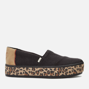 TOMS Women's Alpargata Boardwalk Flatform Pumps - Black