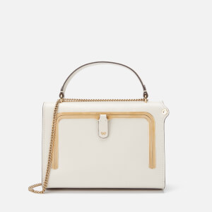 Anya Hindmarch Women's Small Python Print Postbox Bag - Chalk