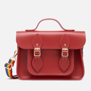 The Cambridge Satchel Company Women's 11'' Magnetic Batchel - Classic Red/Rainbow