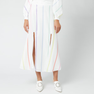 Olivia Rubin Women's Astrid Skirt - White Thin Stripe