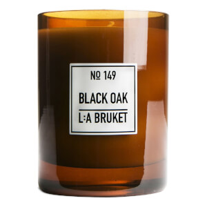 L:A BRUKET Large Black Oak Scented Candle 260g