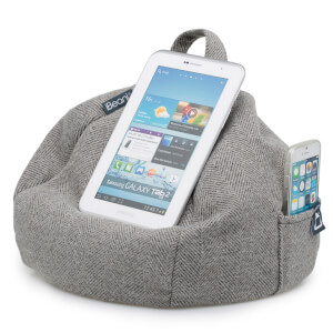 iBeani iPad Tablet, eReader Bean Bag Stand - Herringbone Grey