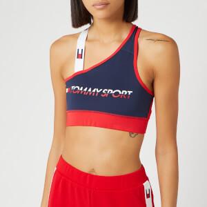 Tommy Sport Women's Logo Mid Sports Bra - Sport Navy
