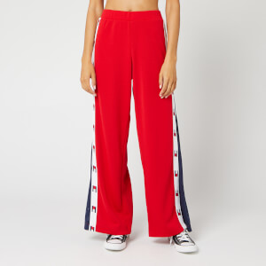 Tommy Sport Women's Flag Tape Flare Pants - True Red