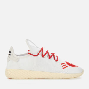 adidas X Pharrell Williams Men's Tennis HU Human Made Trainers - White/Scarlet/White