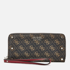 Guess Women's Multi Logo Wallet - Brown