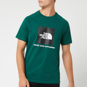 The North Face Men's Short Sleeve Raglan Redbox T-Shirt - Night Green