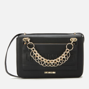 Love Moschino Women's Chain Detail Shoulder Bag - Black
