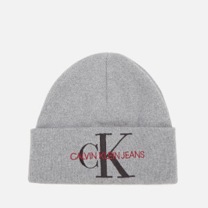 Calvin Klein Jeans Women's Basic Women Knitted Beanie - Mid Grey Heather