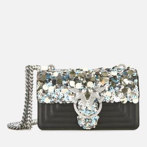 Pinko Women's Mini Love Paillettes Bag - Antracite