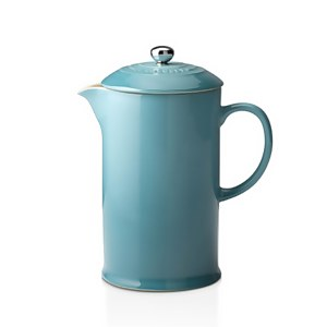 Le Creuset Stoneware Cafetiere Coffee Press - Teal