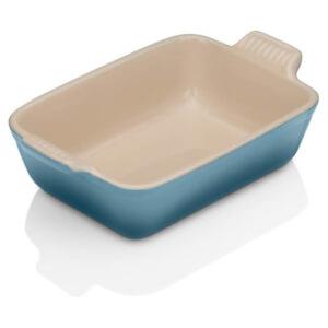 Le Creuset Stoneware Small Heritage Rectangular Roasting Dish 19cm - Marine