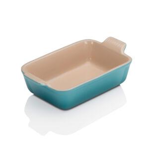Le Creuset Stoneware Medium Heritage Rectangular Roasting Dish - 26cm - Teal