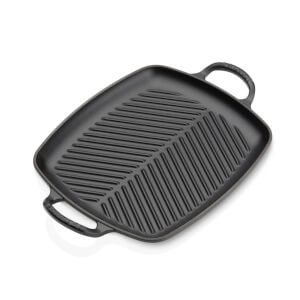 Le Creuset Signature Cast Iron Shallow Rectangular Grill - 30cm - Satin Black