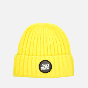 Superdry Women's Super Chunky Ribbed Beanie - Acid Yellow