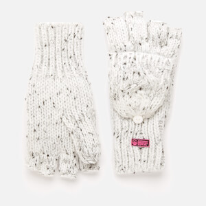 Superdry Women's Gracie Cable Gloves - Ice Grey